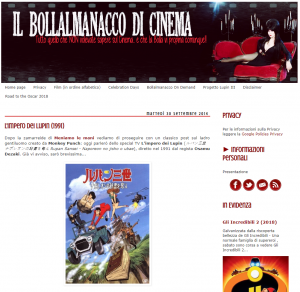 Il bollalmanacco di cinema blog - poster